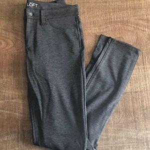 LOFT gray modern skinny pants